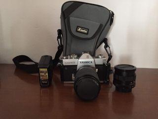 Cámara de fotos+ 2 objetivos