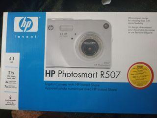 cámara de fotos HP sin abrir