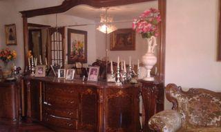 Mueble salon antiguo con espejo madera maciza