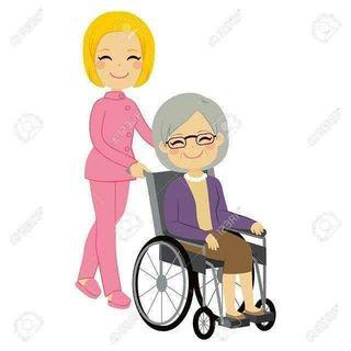 Cuidadora personas mayores.