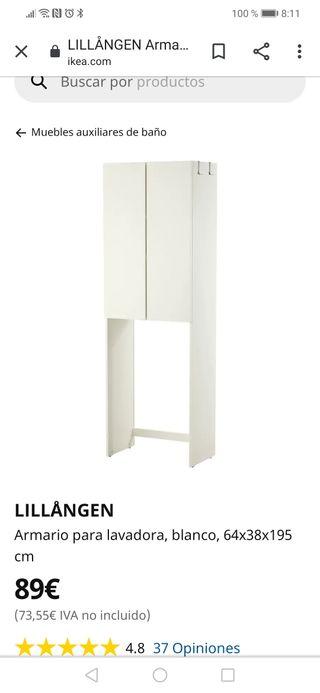 compra venta vista previa de diseñador de moda Armario Ikea sobre la lavadora de segunda mano por 35 € en ...