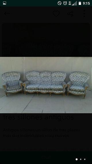 sillones antiguos los 3 (120€)