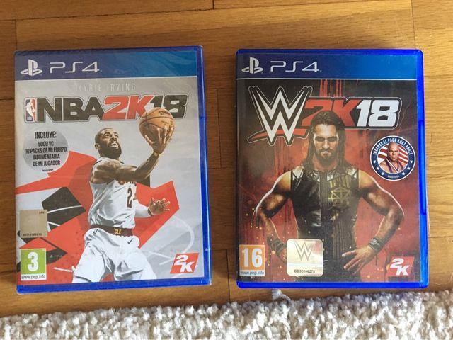 Juegos PlayStation 4: NBA 2K 18, y W 2K 18