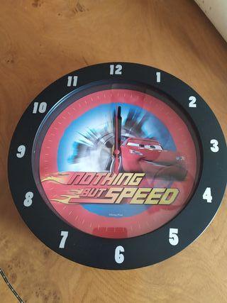 Reloj pared infantil Car's