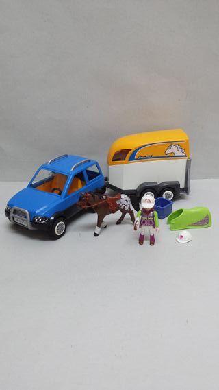 Playmobil 5223 Coche Remolque Caballos