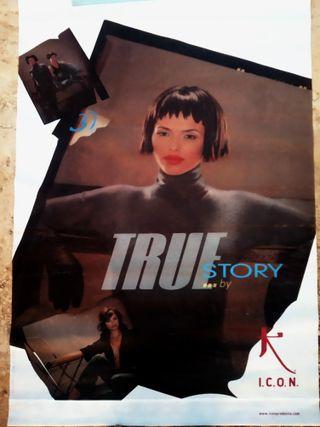 Lona calada PVC cartel True Story