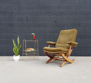 Butaca reclinable estilo NORDICO. Vintage, 60s.
