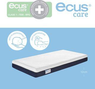 Ecus Care, Colchón de cuna antiasfixia, con certif