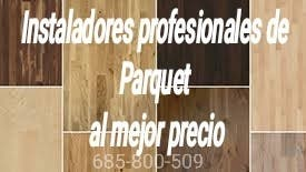 Instalador/colocador de Parquet profesional. 7€ M²