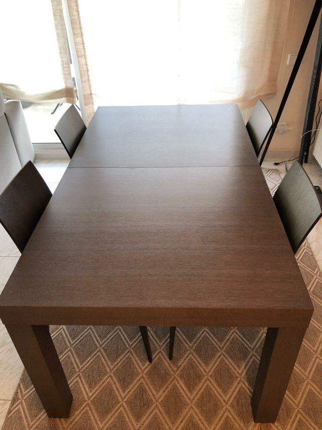 Mesa madera maciza comedor HABITAT de segunda mano por 130 ...