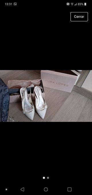 zapato novia plano