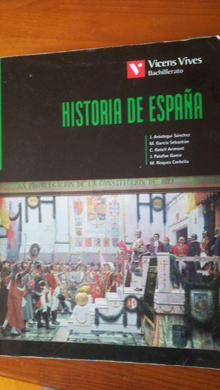Libro Historia de España. editorial Vicens Vives
