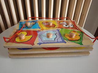 puzles madera con empuñadura