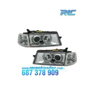 FAROS OPEL VECTRA A ANGEL EYES CROMO