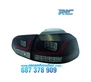 PILOTOS VW GOLF 6 LED NEGRO/AHUMADO