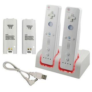 Estación de carga mandos wii + 2 baterías