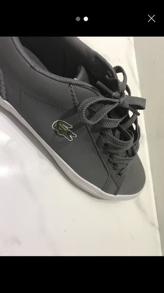 Grey Lacoste shoes size 6