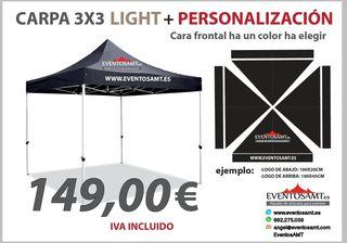 carpa light 3x3 personalizada