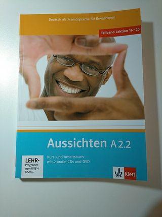 Libro de idiomas. Alemán nivel A2.2 Aussichten.