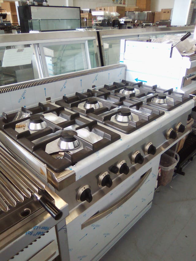 cocina de 6 fuego