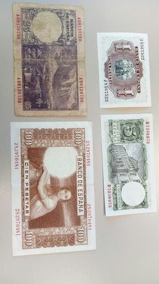 Billetes antiguos pesetas