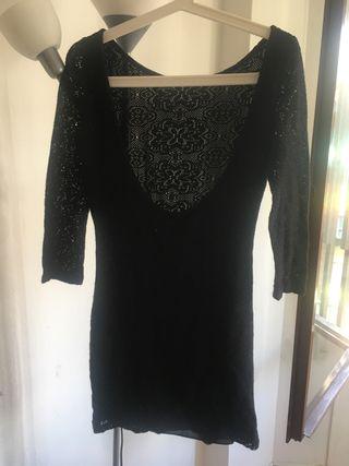 Vestido espalda abierta Zara M