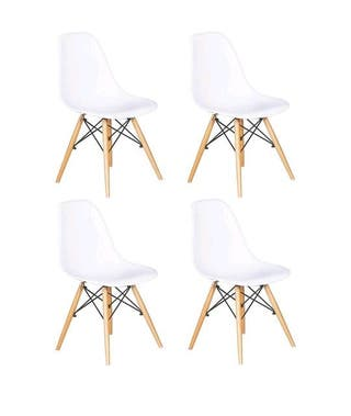 LOT DE 4 CHAISES SCANDINAVES BLANCHES NEUVES
