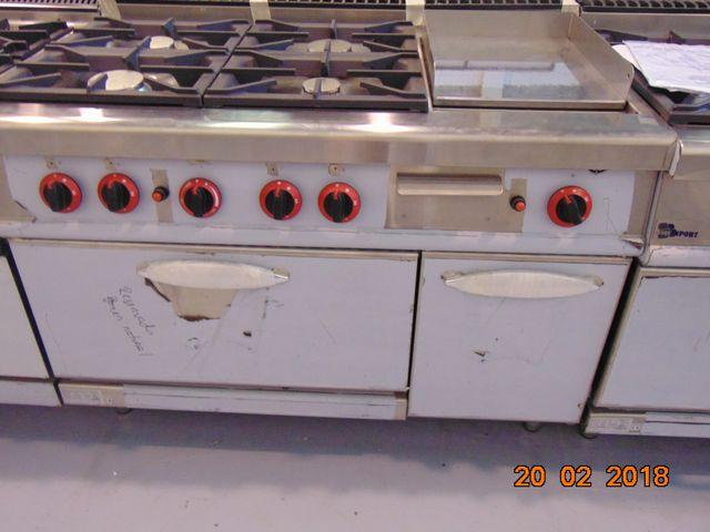 cocina con plancha