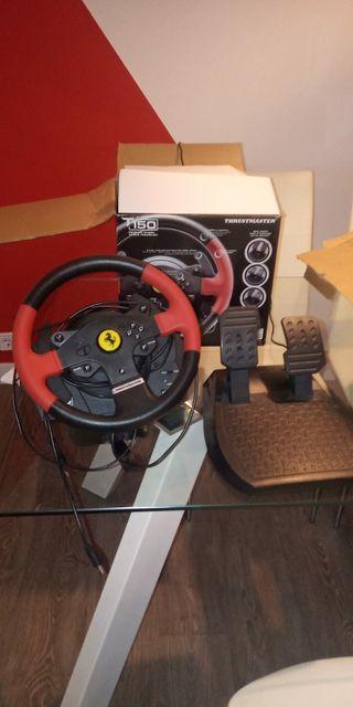 Volante y pedales F1