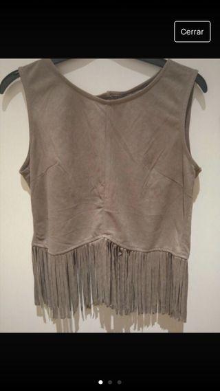 Camisa Zara flecos M
