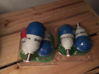 Bombillas Ikea azules