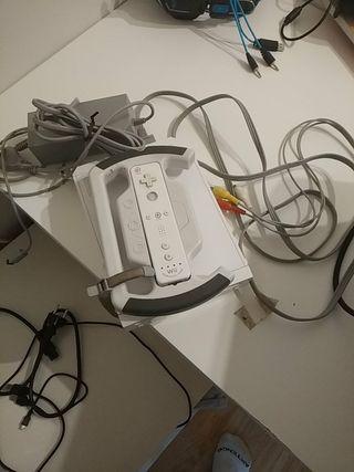 Consola Wii+juegos+volante f1 2009+mando y funda