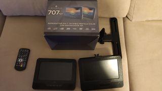 reproductor DVD para coche con 2 pantallas