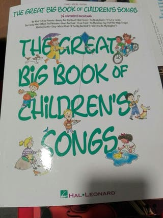 Partituras piano, the great big book of childrens