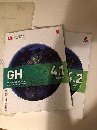 Libros de geografía e historia Vicens Vives 4°ESO