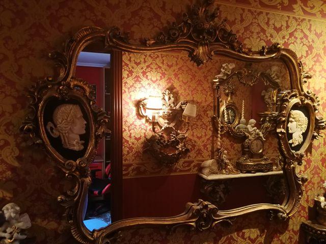 espectacular espejo medallones