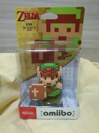 Legend Zelda amiibo Link classic 8 bits nintendo
