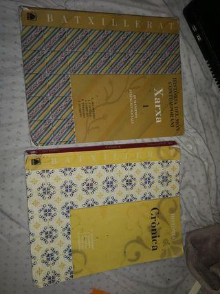 Libros de historia 1r y 2n de bachillerato