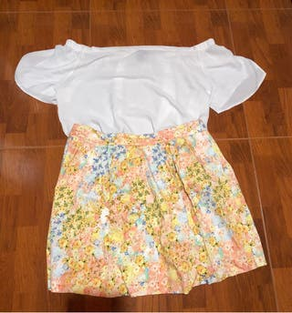 Conjunto blusa y falda