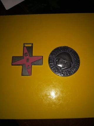 dos medallas de la división Littorio segunda guerr