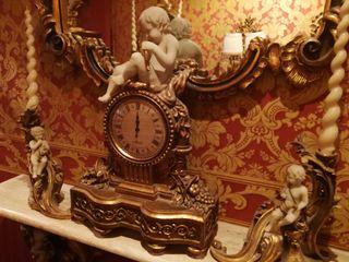 conjunto reloj y candelabros