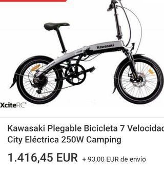 bicicleta Kawasaki eléctrica nueva