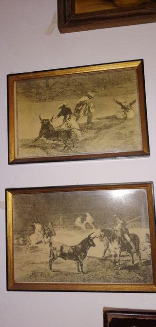 Serie de 4 cuadros de Goya