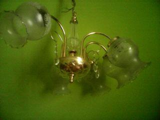 lampara cristal y metal