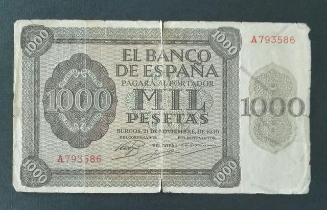 Billete 1000 pesetas 1936
