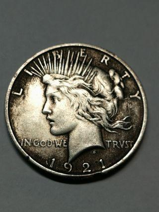 1 Dólar USA de Plata del año 1921.