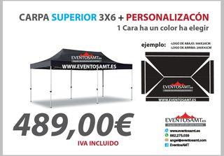 Carpa superior 3x6 personalizada