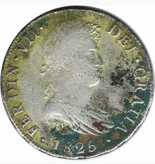 8 reales Fernando VII 1825 Potosí