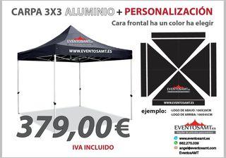 carpa hexagonal aluminio 3x3 personalizada