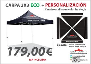 Carpa eco 3x3 personalizada